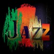 Abstract jazz music background - Stockvectorbeeld