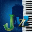 Abstract jazz music background — Vector de stock #7883964