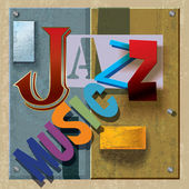 抽象的爵士音乐背景 — 图库矢量图片