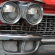 Red retro car ligths - Stock Photo