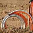Stock Photo: Underground Electrical Cables