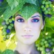 Grape goddess — Stock Photo