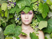 Grape goddess — Stock Photo