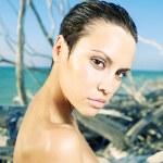 Beautiful woman on beach — Stock Photo #7911576