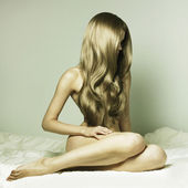 Sensual girl in bed — Foto Stock