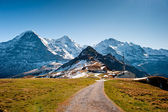 View from Maennlichen with Eiger Moench and Jungfrau — Stock Photo