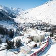 Andermatt  in winter — Stock Photo