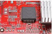 Dusty Circuit board — Stock Photo