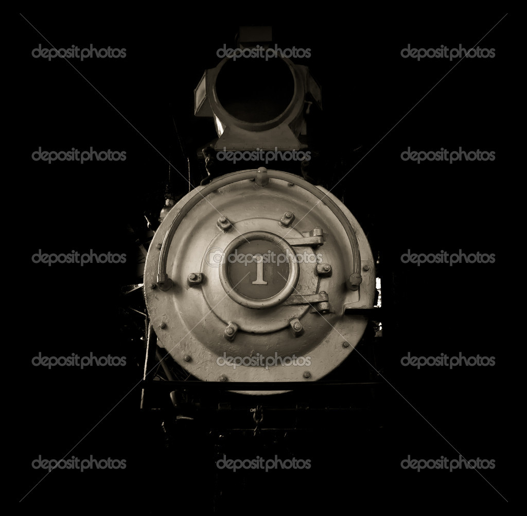Front of a train, grainy and aged  — Stock Photo #6916147