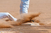 Sliding into Third Base — Stock Photo