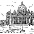 Royalty-Free Stock Vector Image: Basilica di San Pietro