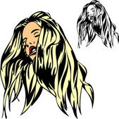 头发的女人 — 图库照片