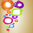 Colorful speech bubble background — Stock Vector