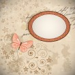 Royalty-Free Stock Vector Image: Floral background with a butterfly.