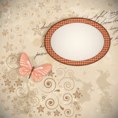 Floral background with a butterfly. — Vector de stock