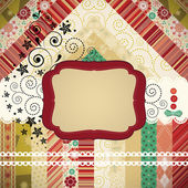 Scrap background made in the classic patchwork technique — Stock Vector