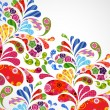 Постер, плакат: Floral and ornamental item background