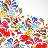 Arrière-plan floral et ornemental. — Vecteur
