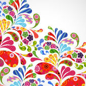 Floral and ornamental item background. — Vecteur