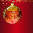 Christmas transparent ball — Imagen vectorial