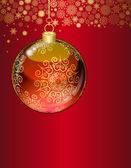 Christmas transparent ball — Stock Vector