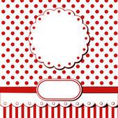 Red scrap card — Stock Vector