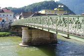 View of Kaiserin Elisabeth Bridge in Bad Ischl — Stock Photo