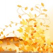 Autumn vector background — Stock Vector