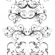 Set of floral elements - Stock Vector