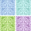 Floral pattern - vector set — Stock Vector