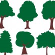 Collection of tree vector — Stock Vector