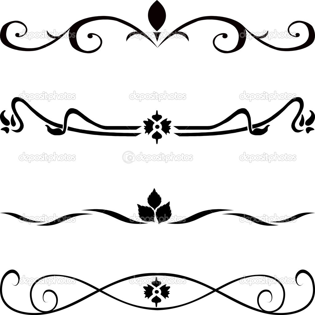 Abstract vector design elements ,borders  — Stock Vector #7376653
