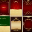 Stock vektor: Abstract golden vector background set
