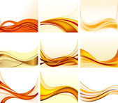 Set of abstract backgrounds vector — Stock Vector