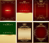 Abstract golden vector background set — Stok Vektör