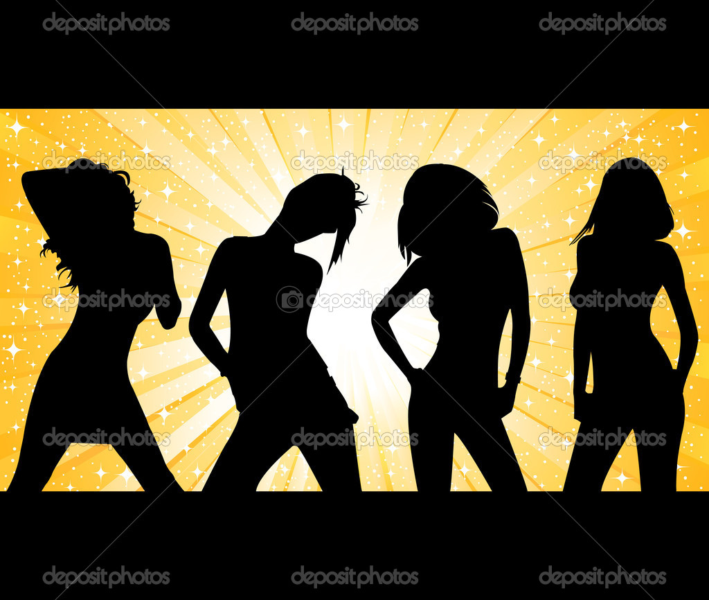 Fashion girls vector — Stock Vector #7465826