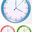 Vector clocks set — Stock Vector