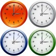Stock Vector: Vector clocks set