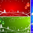 Christmas background vector set — Stok Vektör