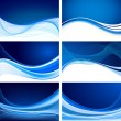 Abstract background vector set — Stock Vector