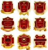 Decorative labels collection — Stock Vector