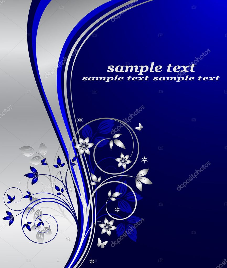 Abstract floral background vector — ベクター素材ストック #7683306