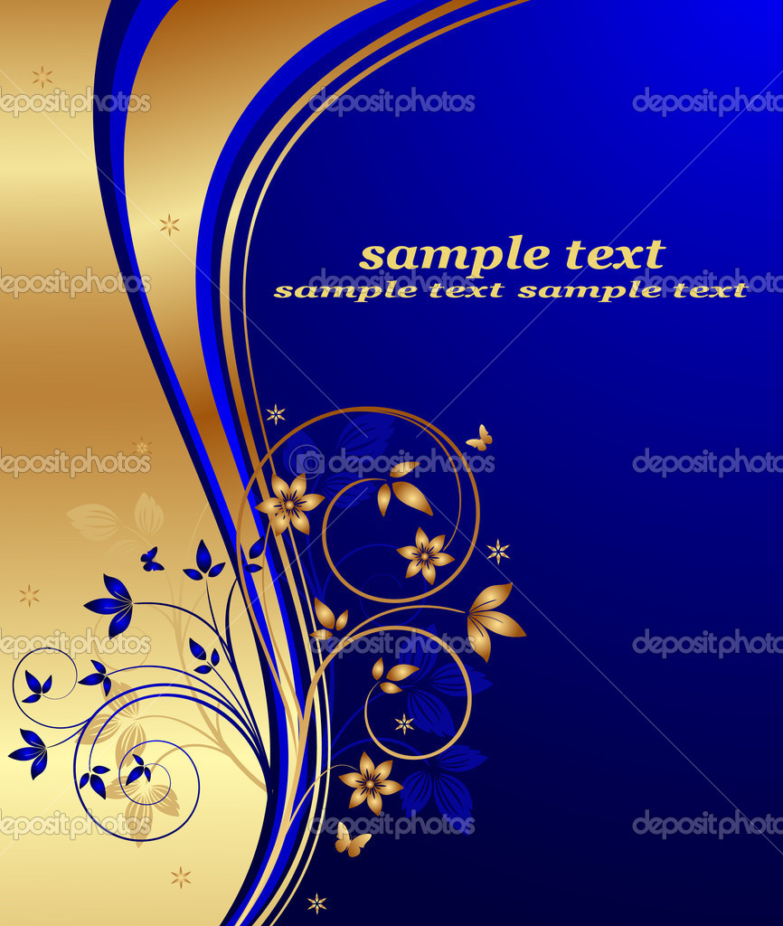 Abstract floral background vector — Vettoriali Stock  #7683342
