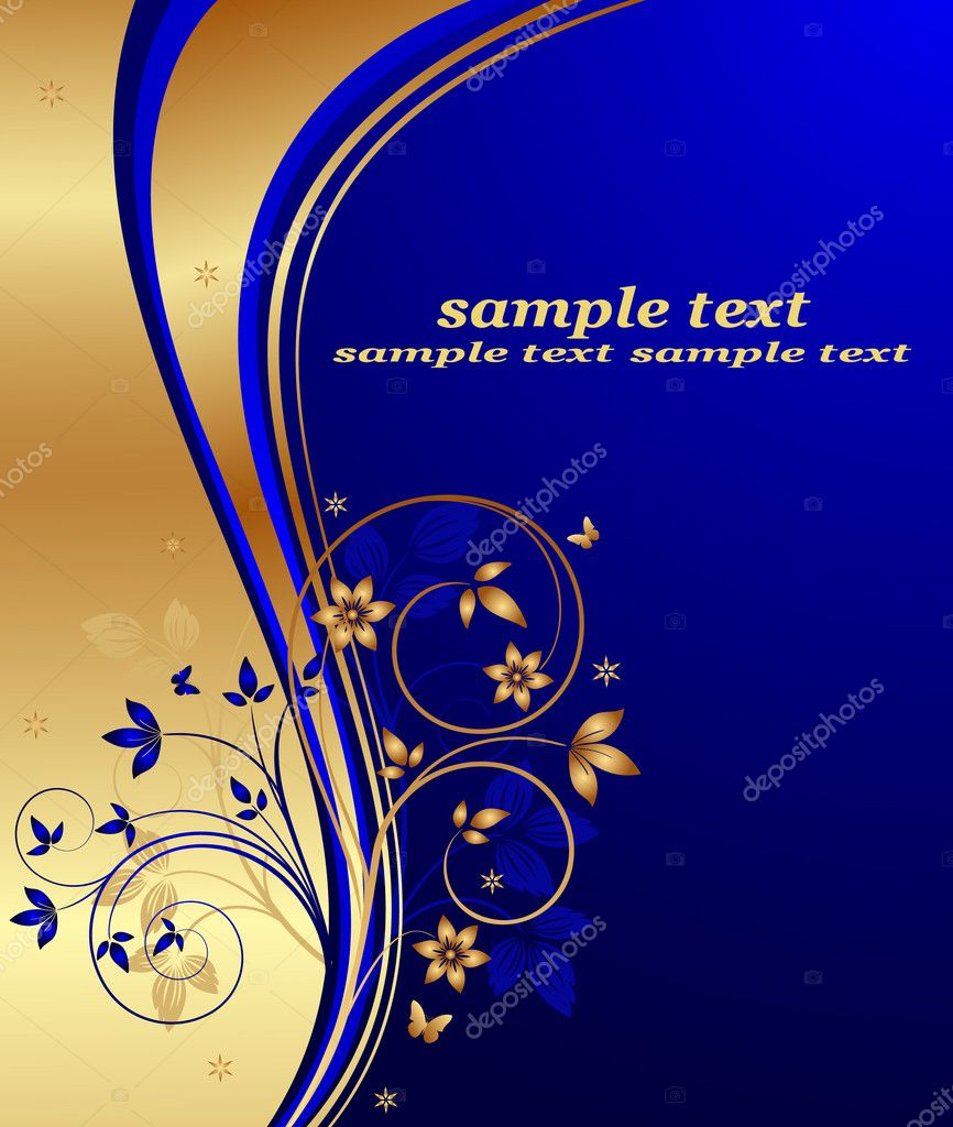 Abstract floral background vector — ベクター素材ストック #7683342