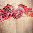 Vintage card with a flower. vector rose flower background — Stock Photo