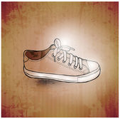 Stylish Sneakers. On grunge background — Stock Photo