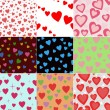Royalty-Free Stock Vektorgrafik: Valentine seamless hearts pattern