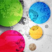 Sfondo colorato astratto vettoriale — Vettoriale Stock