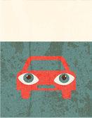 Retro grunge poster. Car — Stock Vector