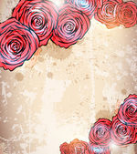 Vintage card with a flower. vector rose flower background — Stock Vector